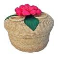 Ronde mand met bloem